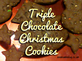 Triple Chocolate Christmas Cookies!