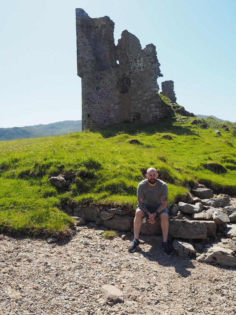 Gordon at Ardvreck Castle, NC500