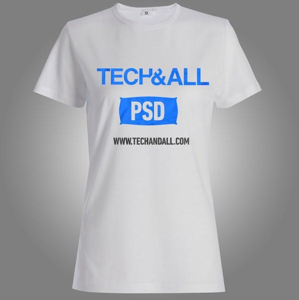 Free Female T Shirt Mockup v.2 PSD