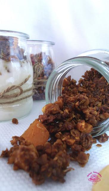 Granola casera de frutos secos