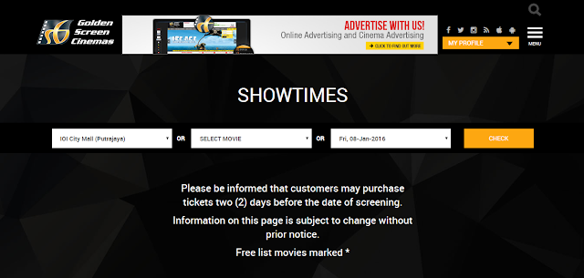 Golden Screen Cinemas Movie Showtime