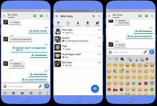 BBM Mod Apk Tema iOS (iPhone) Versi Terbaru Clone Unclone (v3.2.0.6)