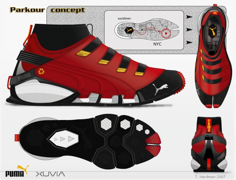 Parkour Shoes Red