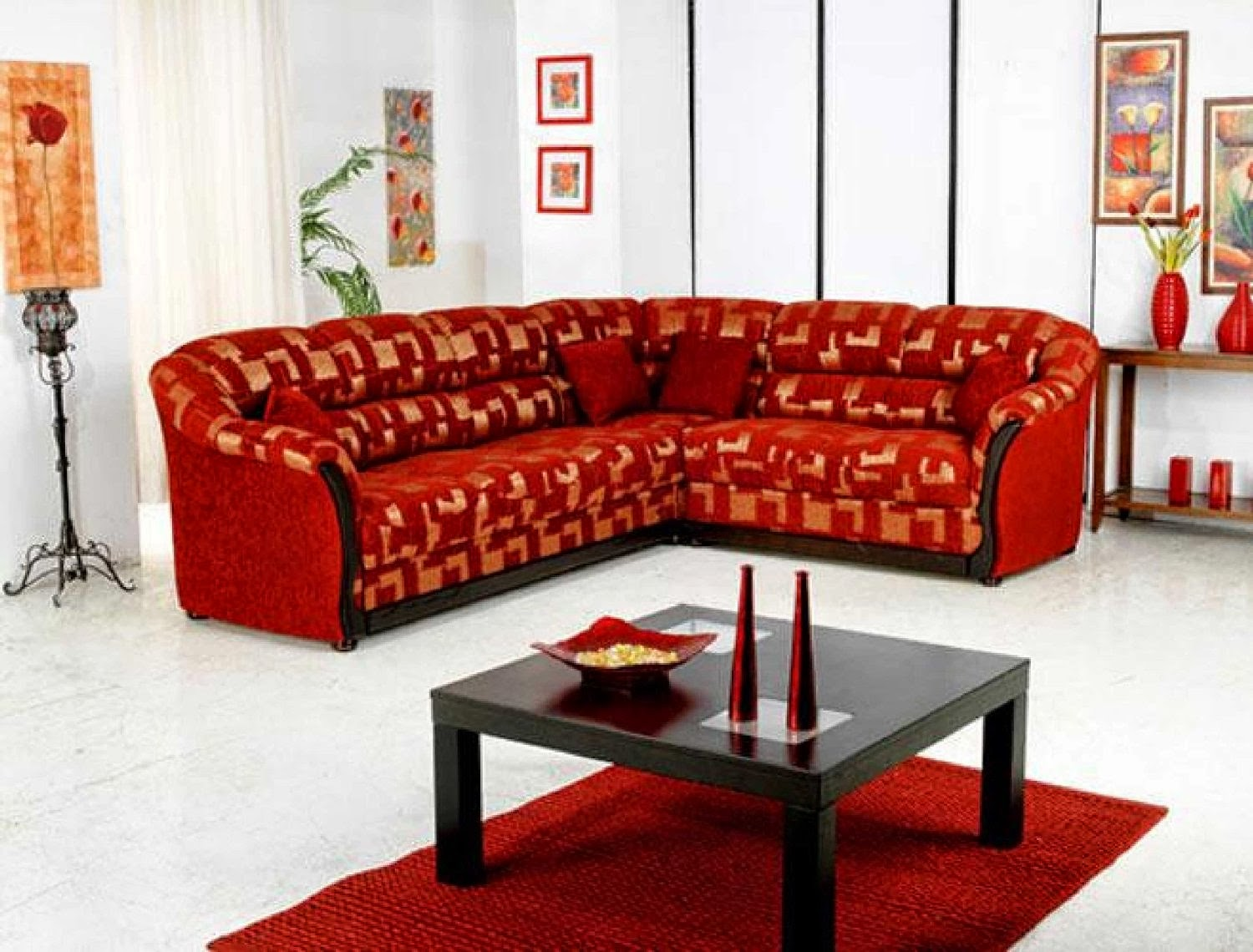 Red Sofa Sectional Recliner Single Singapore Couch