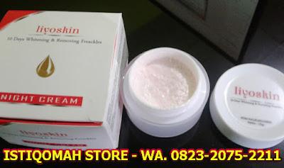 Liyoskin Cream Pemutih Wajah Alami Kinclong dalam 10 Hari