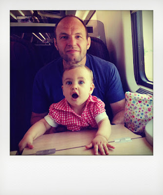 Viaggio in treno con una bimba piccola