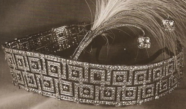 Queen Elizabeth United Kingdom Double Meander Tiara