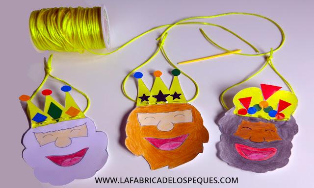 Moldes Reyes Magos manualidades infantiles