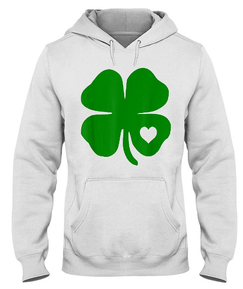 Irish Shamrock Green Clover Heart St Patrick Day Hoodie, Irish Shamrock Green Clover Heart St Patrick Day Sweatshirt, Irish Shamrock Green Clover Heart St Patrick Day Shirts