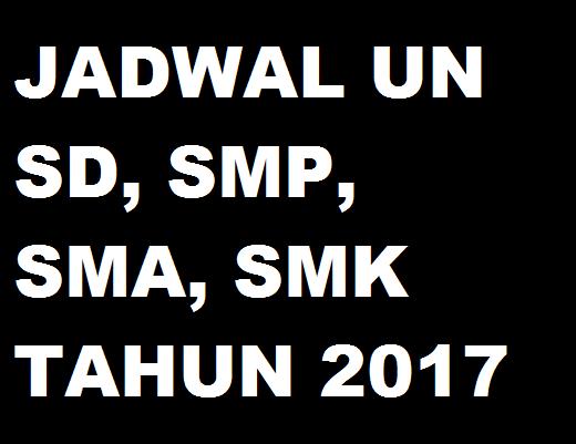 Jadwal Ujian Sekolah Smasmk 2016 Jadwal Un Unbk Usbn Ujian Sekolah Sd Smp Sma Smk Tahun 2018