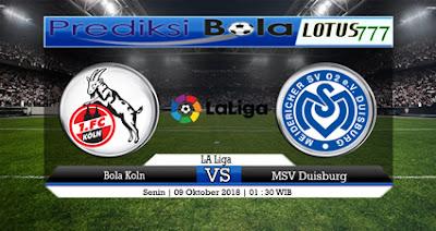 Prediksi Bola Koln vs MSV Duisburg 9 Oktober 2018