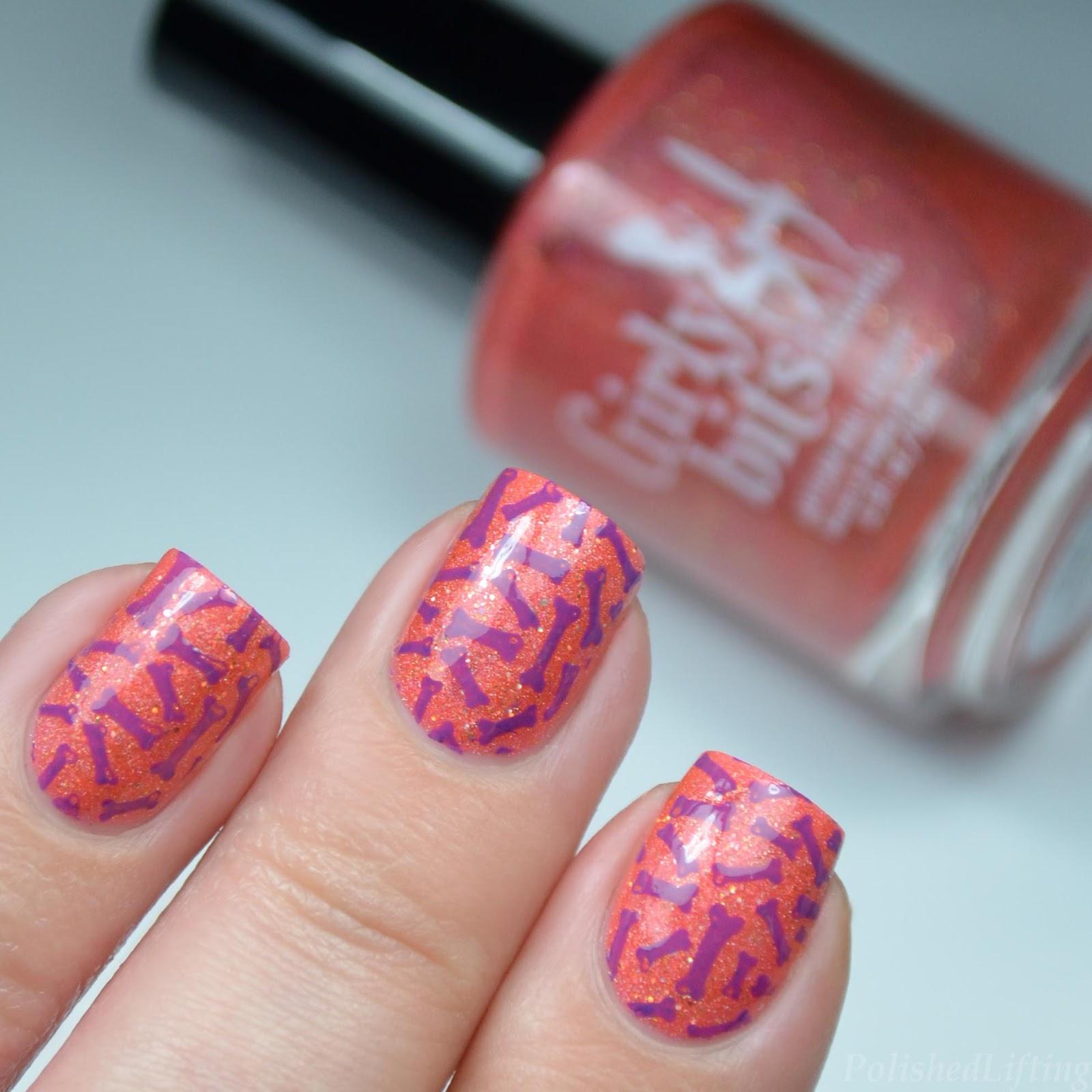 Polished lifting dem bones halloween nail art featuring girly nail art prinsesfo Gallery