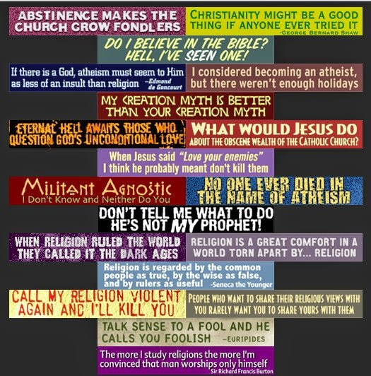 Funny atheist bumper stickers collection picture