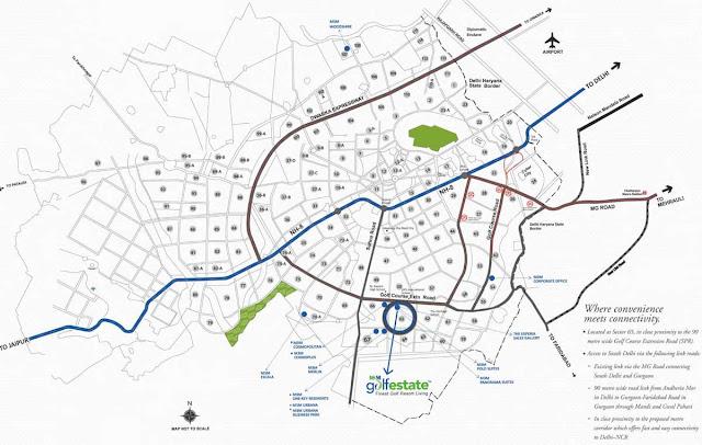 Location plan - M3M Golf Estate