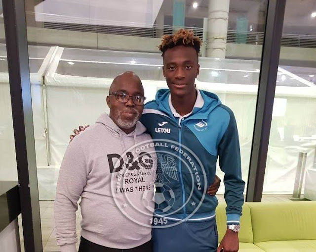 Tammy Abraham by the right