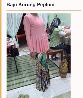DIY Pola Baju Kurung Peplum dan Blouse Peplum