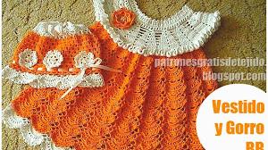 Patrones crochet de vestido infantil en punto abanico / Tutorial en video