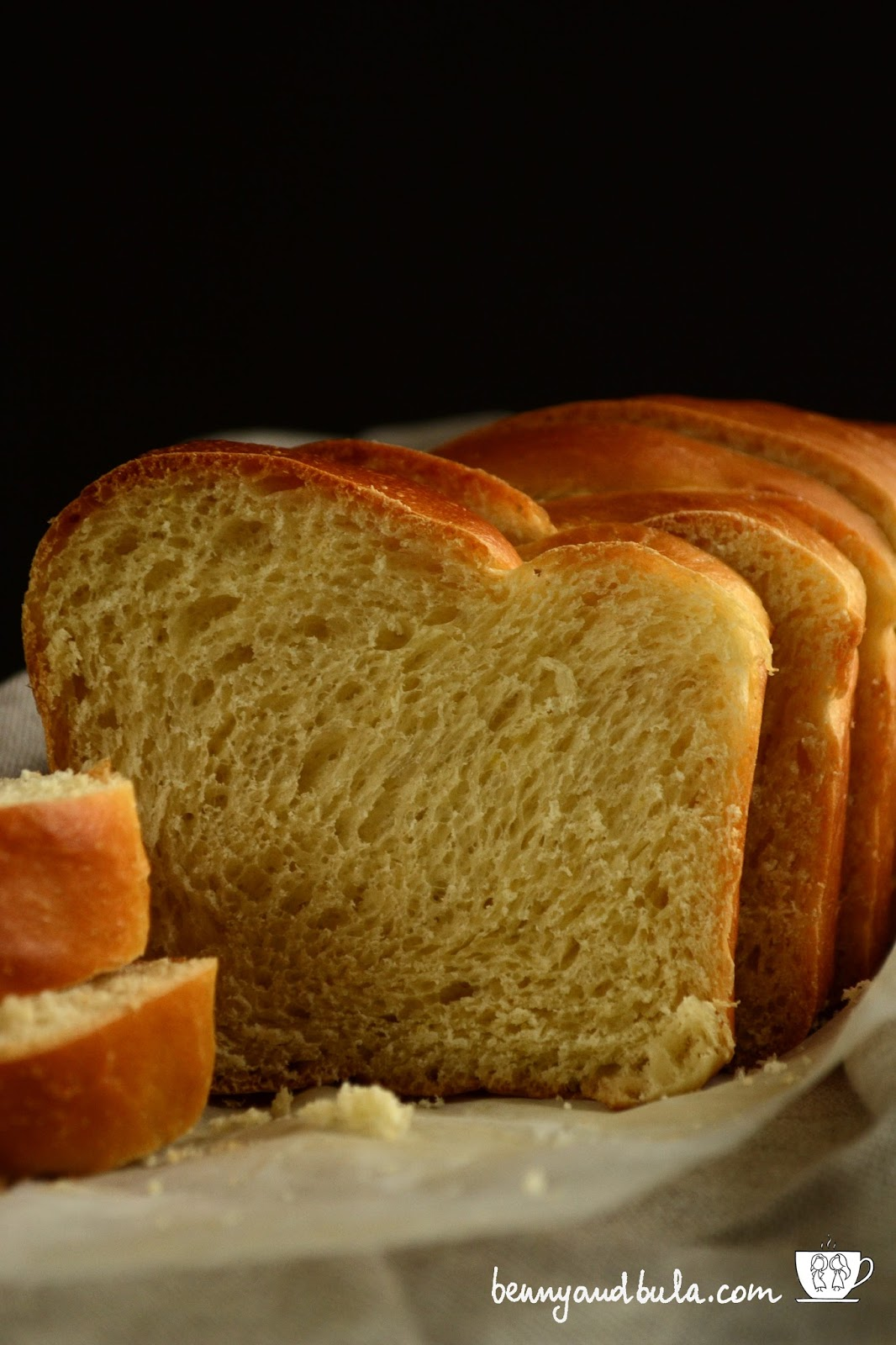 ricetta facile pan brioche/easy brioche loaf recipe