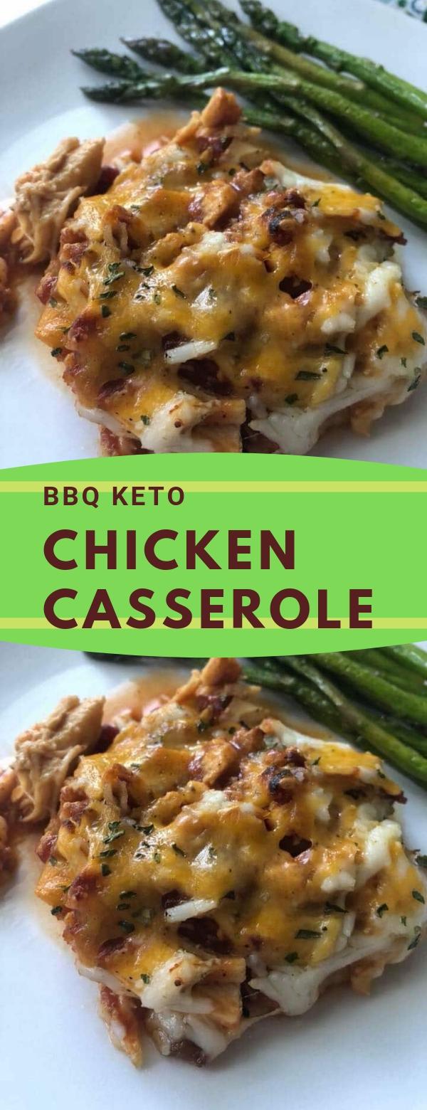 BBQ KETO CHICKEN CASSEROLE RECIPE #KETO #CASSEROLE