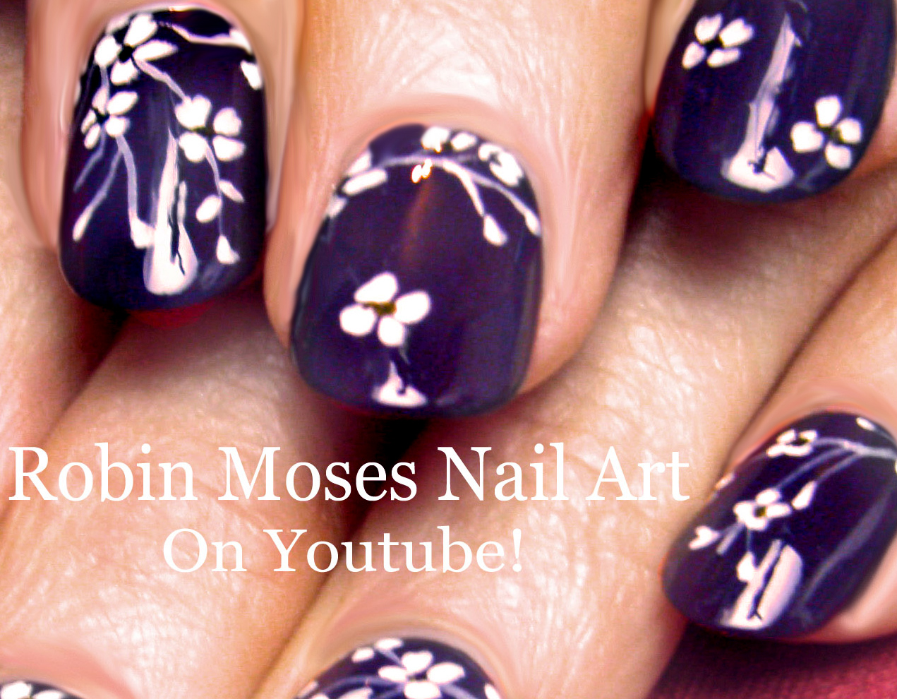Robin moses nail art cherry blossom nail art 2016 full length white flower nails cherry blossom floral nail art design tutorial prinsesfo Gallery