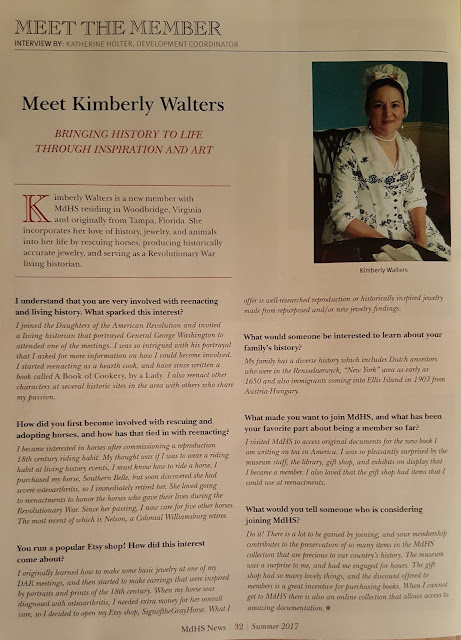 i am featured in the meet the member section of the summer 2017 maryland historical society magazine check out my interview bringing history to life