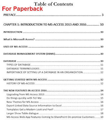 screenshot of paperback toc