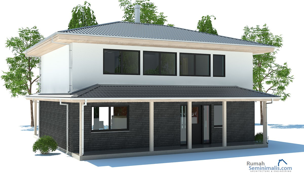 Denah Model Desain Gambar Rumah Minimalis Idaman Modern Tipe 80