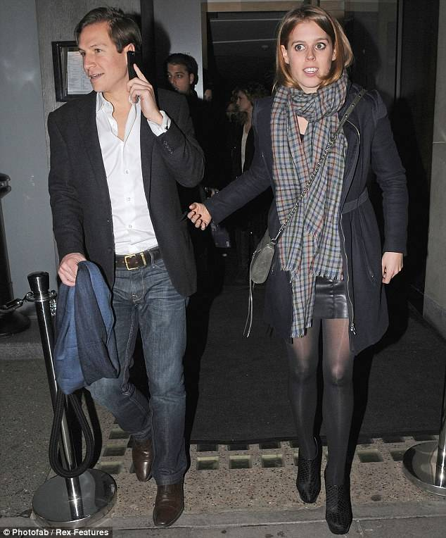 Princess Beatrice Leather Skirt: Caption: Pretty Princess: Beatrice Looked Great In A Short