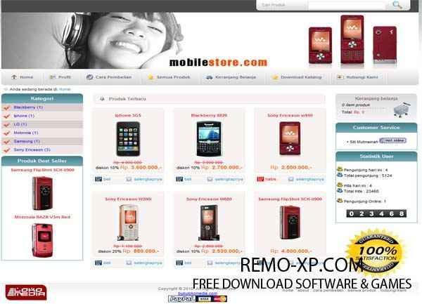 Free download template cms lokomedia.