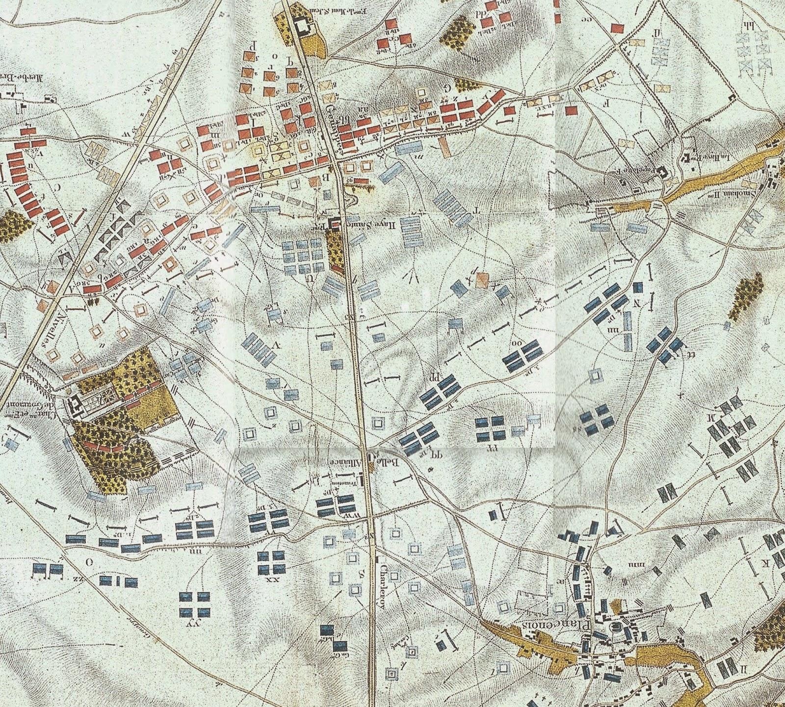 Map of Waterloo Battlefield by Craan