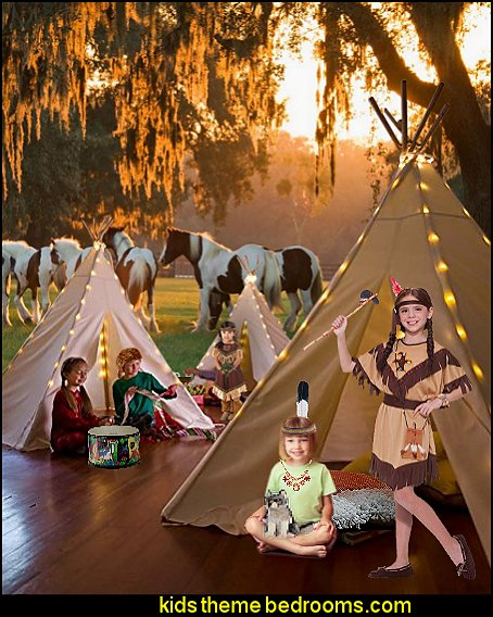 playrooms native american themed playrooms wolf theme bedrooms - Santa Fe style - wolf bedding - Tipis, Tepees, Teepees - Decal sticker wolf - wolf wall mural decals - birch tree branches - cactus decor
