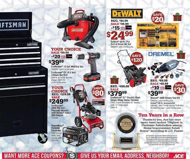 Ace Hardware Black Friday 2016 tools ad