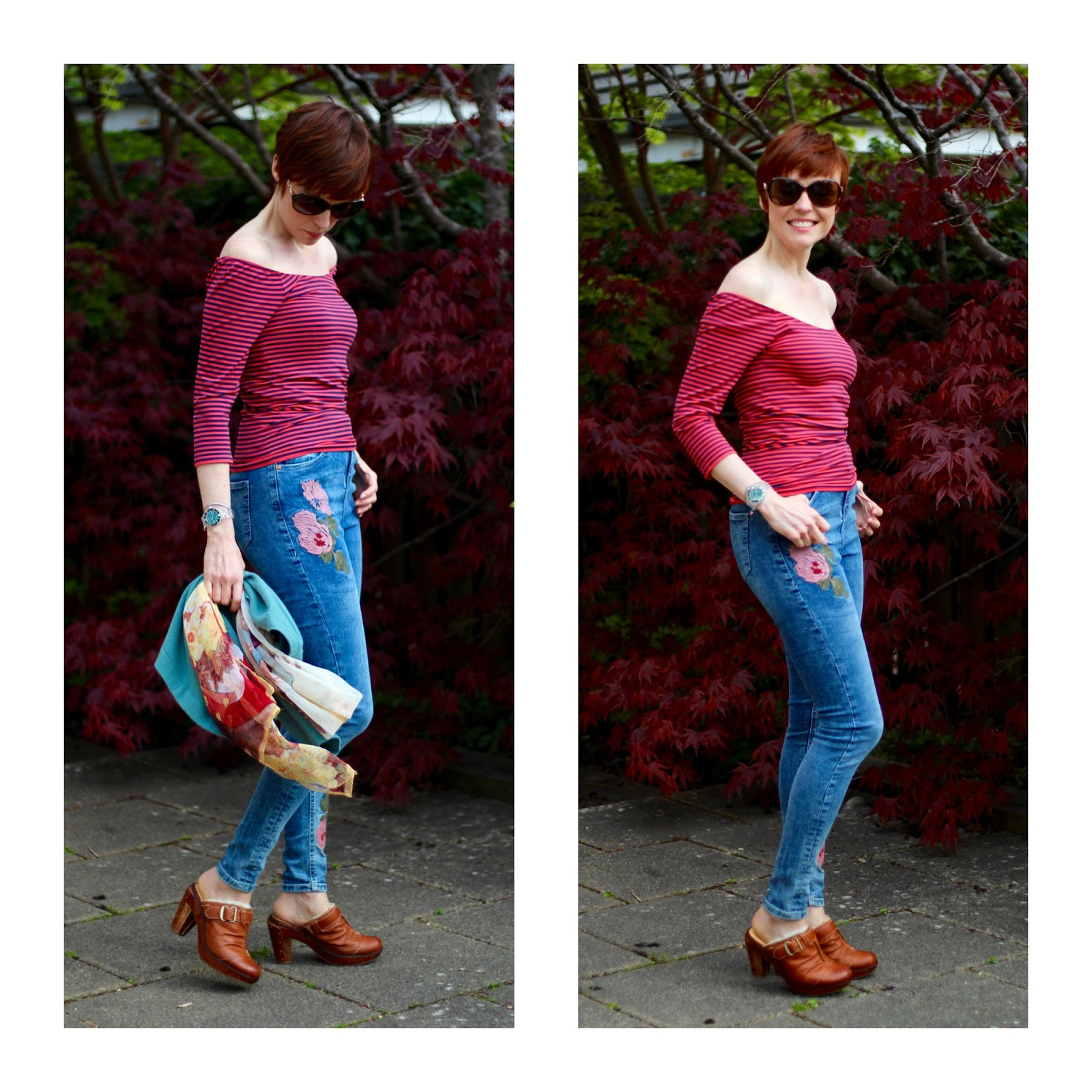 Embroidered Jeans, Bare shoulders, Sheepskin Clog Mules & a Good Strapless Bra V's BAD BRA  | Fake Fabulous
