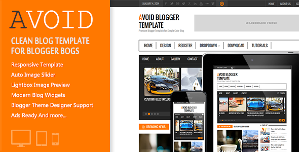 Avoid Responsive Blogger Template