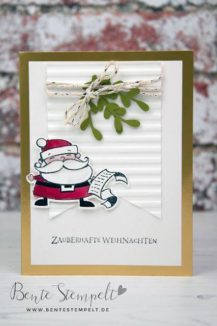 Stampin Up Bente Stempelt Weihnachten christmas Elf Wichtel Weihgnachtswerkstatt Santas Workshop Weihnachtsmann Wunschliste Wunschzettel wish list