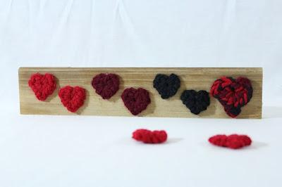 free crochet pattern, hearts, confetti, Valentine, tutorial