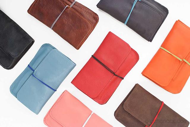 cuir artisanal coloré