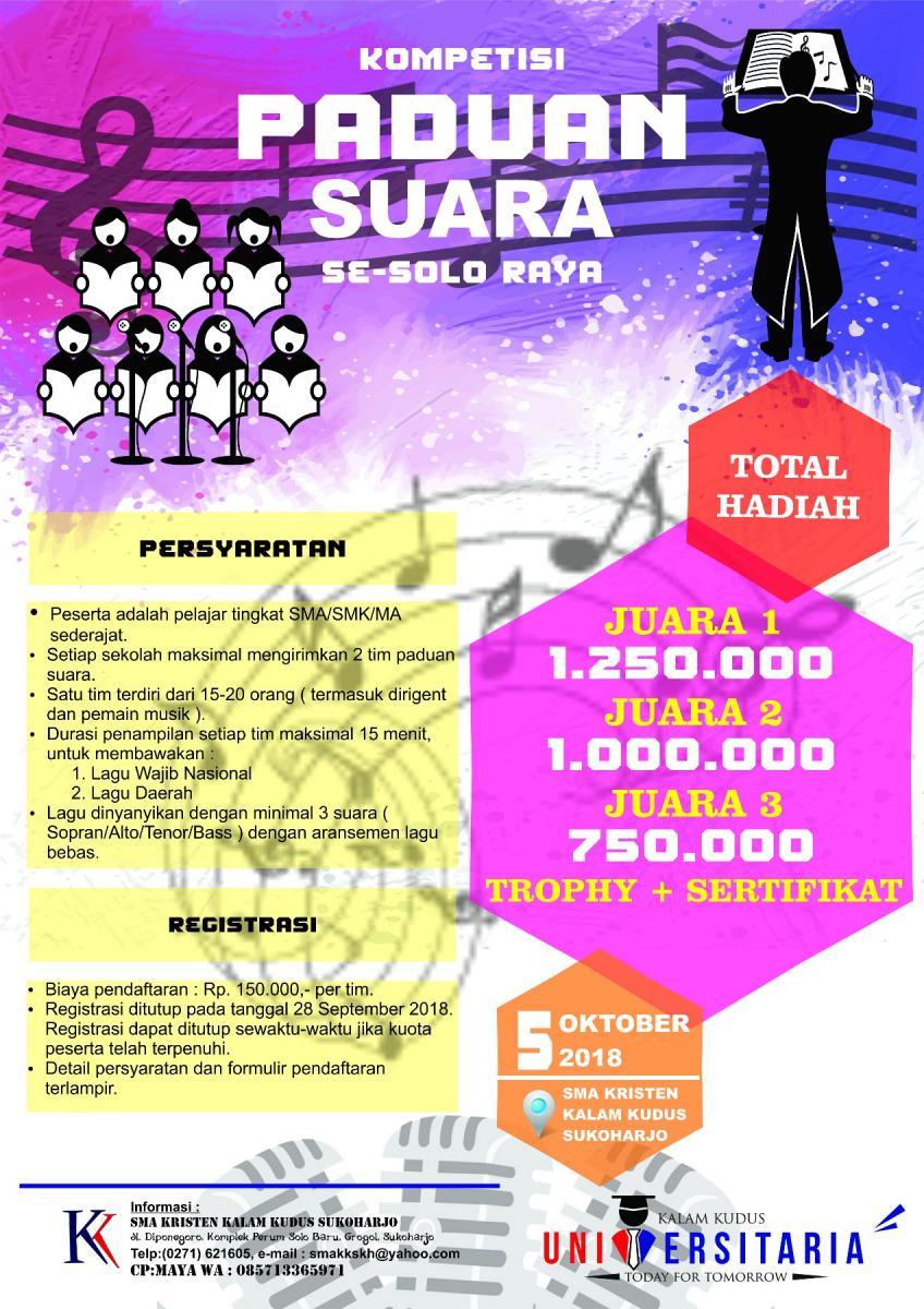 Kompetisi Paduan Suara Se-Solo Raya - Universitaria 2018
