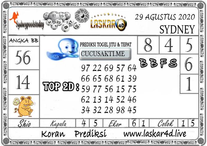 Prediksi Togel SYDNEY LASKAR4D 29 AGUSTUS 2020