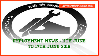 Employment News June 2016