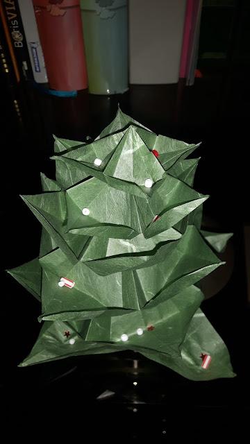 sapin noel origami 3D