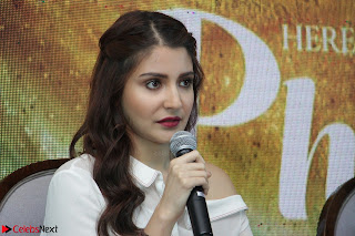 Anushka Sharma with Diljit Dosanjh at Press Meet For Their Movie Phillauri 047.JPG