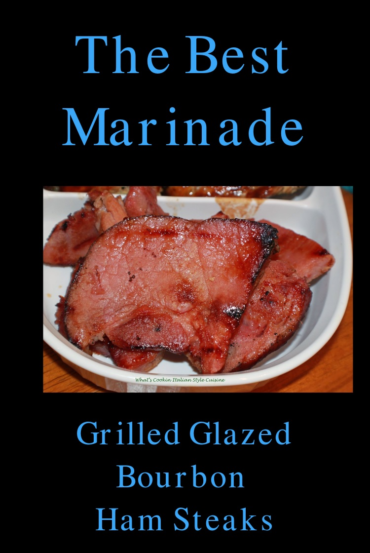 this is a marinade for ham steaks, spiral ham glaze or any kind of pork you will smoke, grill or bake
