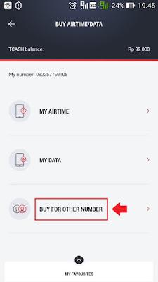 cara kirim pulsa lewat aplikasi tcash wallet