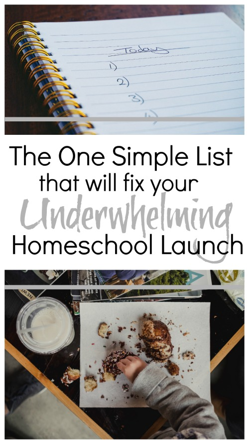 The One Simple List that Will Fix Your Underwhelming Launch #homeschool #organization #planning
