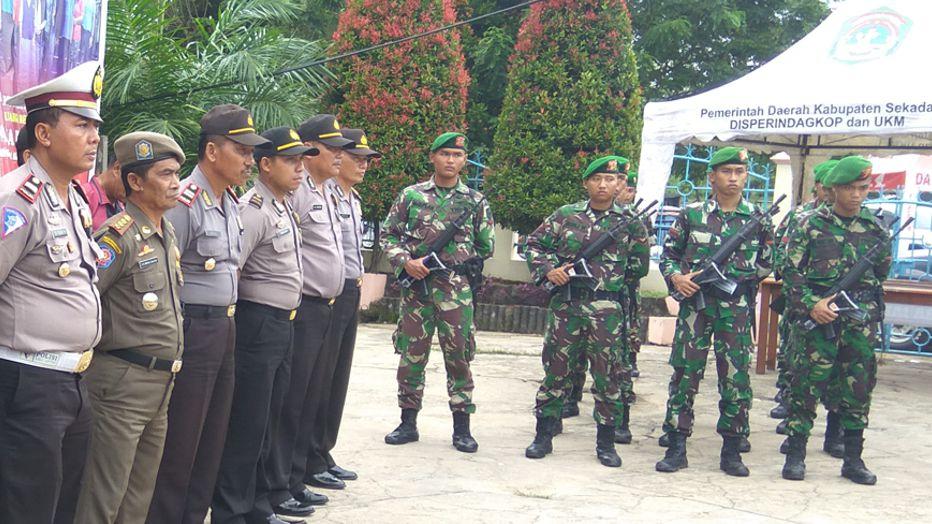 Gabungan TNI, Polri dan Satpol PP Amankan Perayaan Paskah