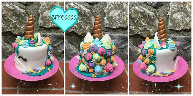 enredadaen.blogspot.com.es/tarta unicornio