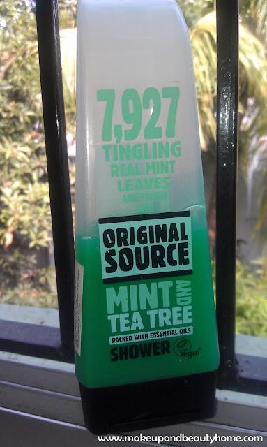 Original Source Mint and Tea Tree Shower Gel Review