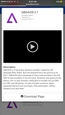 Follow the simple instructions to install GBA4iOS 2.1 in iOS 10 and iOS 9 without jailbreak on iPhone, iPad or iPod touch.Step 1. Launch Safari and type iemulators.com on your iOS devices