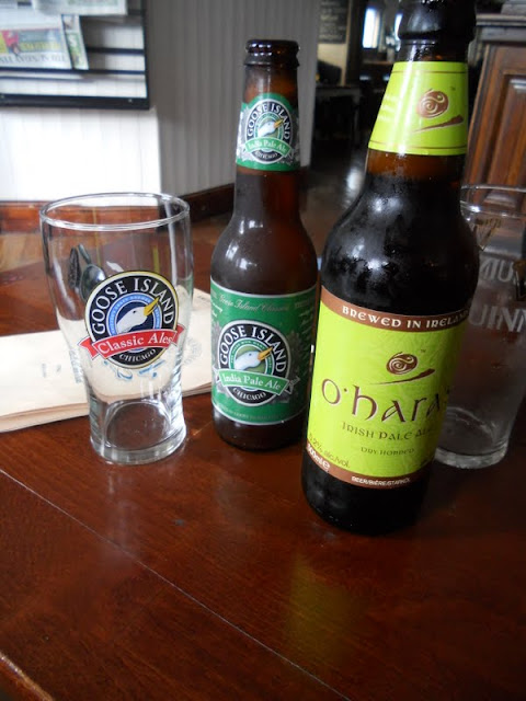 Goose Island and O'Hara IPA at the Bath Pub in Dublin
